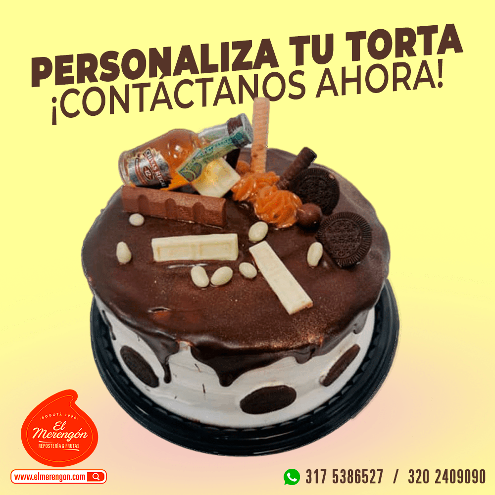 Torta personalizada chocolate, El Merengón