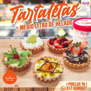 TARTALETAS MAS MEDIO LITRO DE HELADO